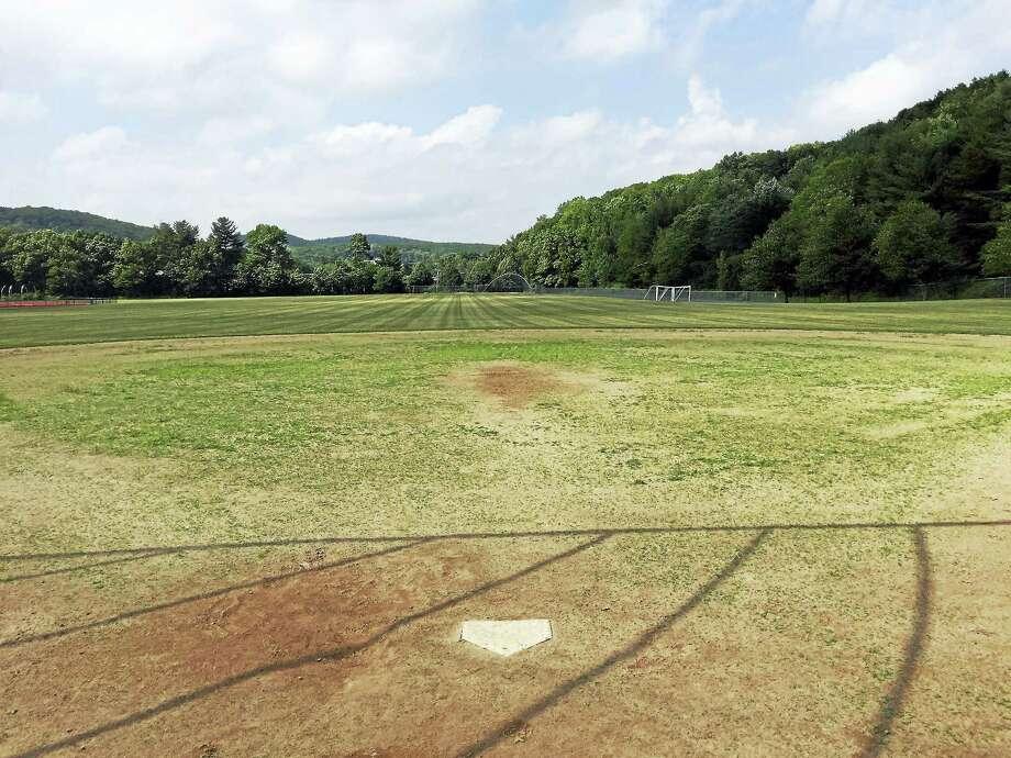 Ben Lambert - The Register CitizenA softball field at Torrington High School, as seen Thursday. Photo: Journal Register Co.