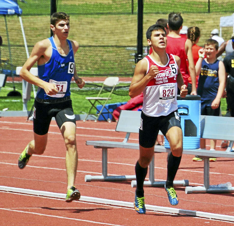Submitted photoLitchfield's Antonio Muratori won the 17-18 division 3,000 meters at last weekend's USATF Junior Olympic Track and Field Regionals in Albany, New York. Photo: Journal Register Co.