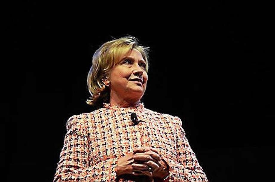 Hillary Clinton Photo: Megan Merrigan File Photo Via CTNJ