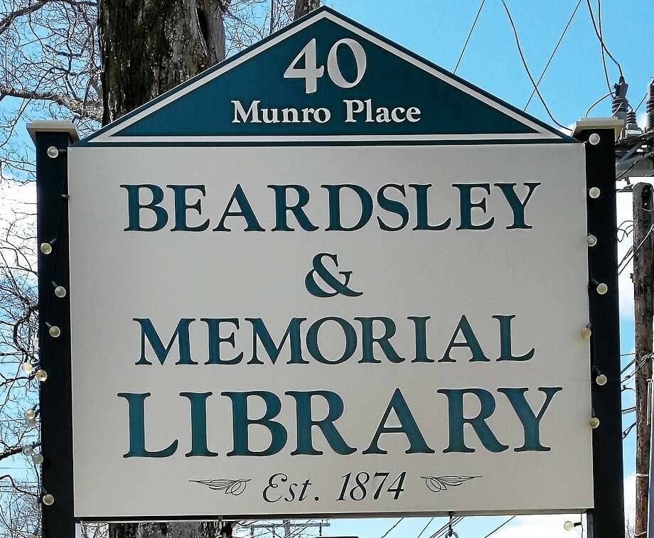 Outside sign for Beardsley & Memorial Library in Winsted. Photo: Register Citizen File Photo