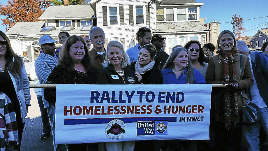 The second annual Rally to End Hunger & Homelessness was held on Saturday in Torrington, beginning with 45 attendees at The Gathering Place homeless hospitality center at 21 Prospect St. The rally moved on to tours of the Friends in Service to Humanity of Northwest Connecticut homeless shelter at 332 S. Main St.; and culminated in a noonday free community pasta lunch and coat giveaway for about 150 at the Knights of Columbus headquarters at 152 Litchfield St. Photo: N.F. Ambery — The Register Citizen