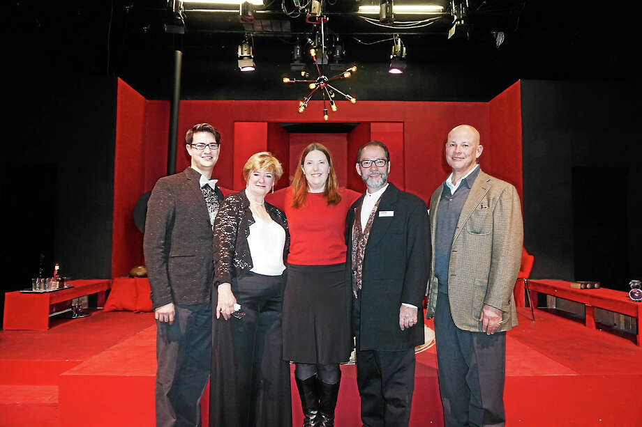 Contributed photoTheaterWorks New Milford directors, actors and staff recently celebrated the start of their new season for 2016. Photo: Journal Register Co.