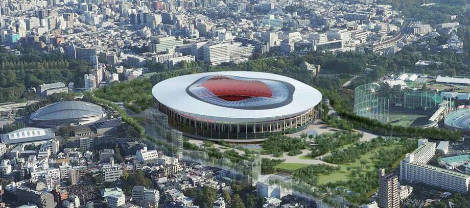"This artist rendering provided by the Japan Sports Council on Dec. 14, 2015 shows Design ""A"" proposed by one of two groups competing to build the new Tokyo Olympic stadium. The Japan Sports Council designs said the winner will be chosen this month. Photo: The Japan Sports Council Via AP  / The Japan Sports Council"