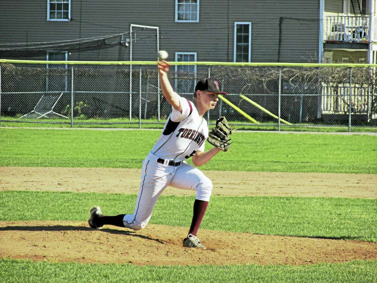 Torrington's Jason Vinisko pitched a complete-game gem in a win over Wolcott Wednesday afternoon at Fuessenich Park.