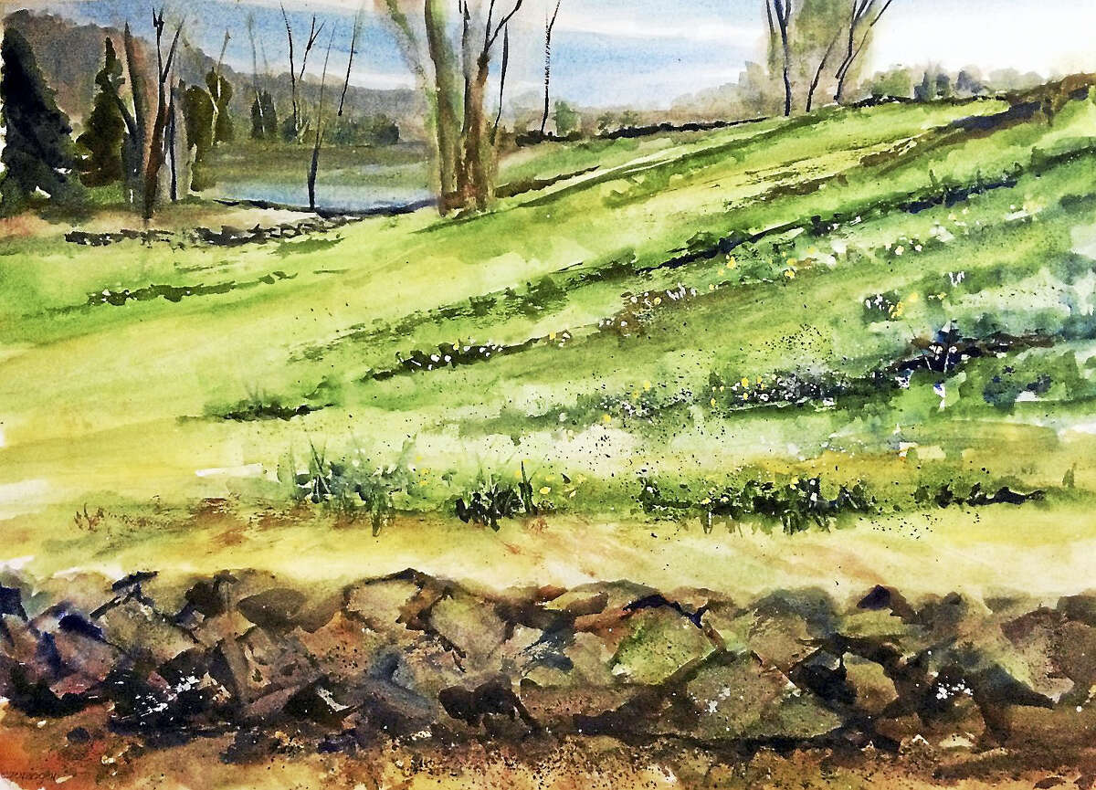 Contributed photos courtesy of the artist The Oliver Wolcott Library ,160 South Street, Litchfield, will show the paintings of Jocelyn Regenbogen in an exhibit, Watercolors, during May and June in the Jamie Gagarin Community Room and Gallery.