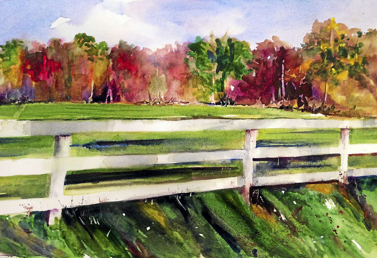 Contributed photo courtesy of the artist The Oliver Wolcott Library ,160 South Street, Litchfield, will show the paintings of Jocelyn Regenbogen in an exhibit, Watercolors, during May and June in the Jamie Gagarin Community Room and Gallery.