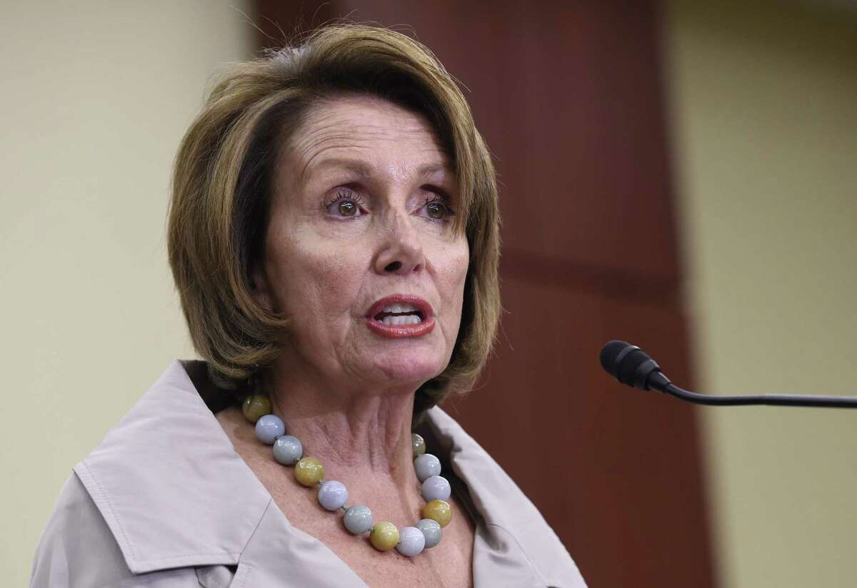 In this July 29, 2015 file photo, House Minority Leader Nancy Pelosi of Calif. speaks on Capitol Hill in Washington. The September vote on the Iran nuclear deal is billed as a titanic standoff between President Barack Obama and Congress. Yet even if lawmakers give it a thumbs-down, itís not game-over for the White House. Not even close.
