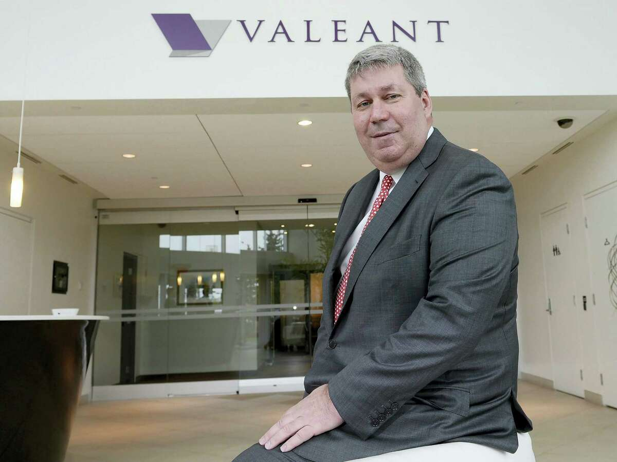In this May 19, 2015 photo, Valeant Pharmaceuticals CEO J. Michael Pearson poses at the company's annual general meeting in Montreal. Senators investigating price hikes by Valeant Pharmaceuticals will question hedge fund manager William Ackman and former finance chief Robert Schiller at a hearing scheduled for April 27, 2016.