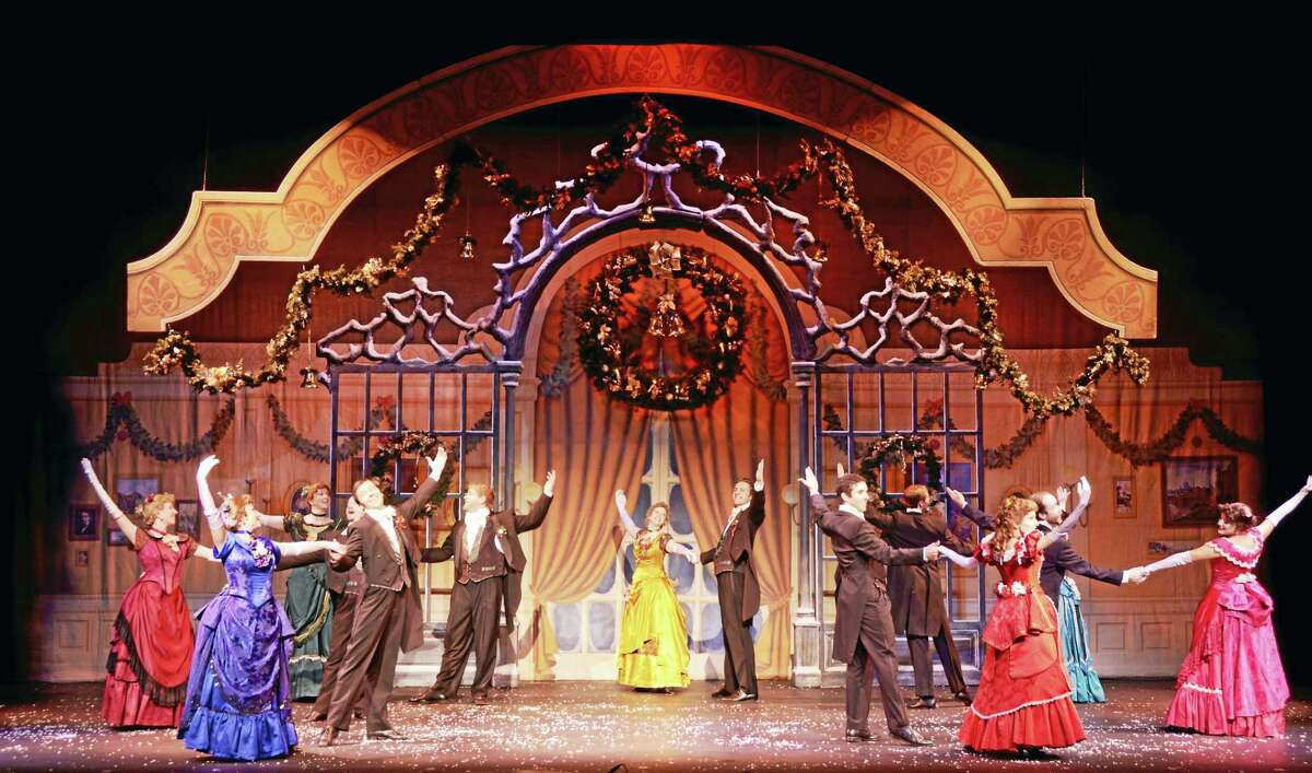 """A party/dance scene from """"A Christmas Carol."""""""