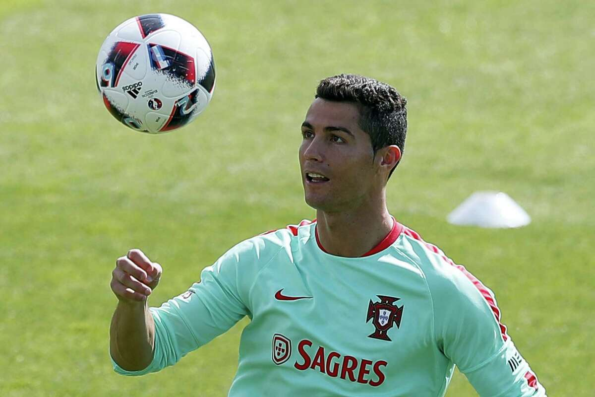 Portugal's Cristiano Ronaldo controls the ball during a training session in preparation of the Euro 2016 final on Sunday.