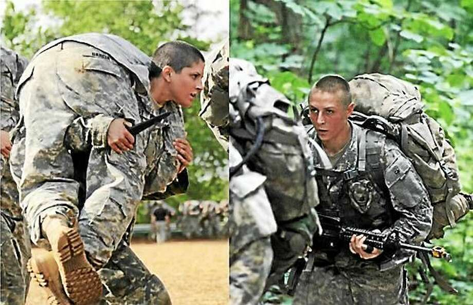 Screenshot via washingtonpost.com: Capt. Kristen Griest (left) and 1st Lt. Shaye Haver (right) will become the first female soldiers ever to graduate from Ranger School on Friday, Aug. 21. (Photos by Spec. Nikayla Shodeen and Pfc. Ebony Banks/ U.S. Army) Photo: Journal Register Co.