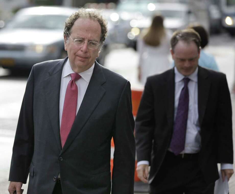 """Attorney Gregg Levy arrives at court in New York, Wednesday, Aug. 19, 2015.  The judge presiding over the """"Deflategate"""" legal case said Wednesday that he hopes to rule whether New England quarterback Tom Brady must serve a four-game suspension before the NFL season opener, though he urged a settlement. Photo: AP Photo/Seth Wenig / AP"""