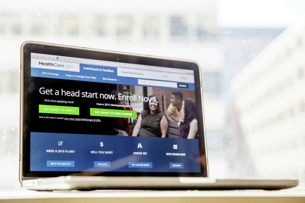 In this Oct. 6, 2015 photo, the HealthCare.gov website, where people can buy health insurance, is displayed on a laptop screen in Washington. The Obama administration says a little over 1 million people renewed coverage or signed up for the first time through HealthCare.gov around the start of open enrollment.