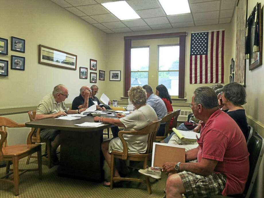 Ben Lambert - The Register CitizenThe Morris Board of Finance met Thursday to take up consideration of the town budget once again. Photo: Journal Register Co.