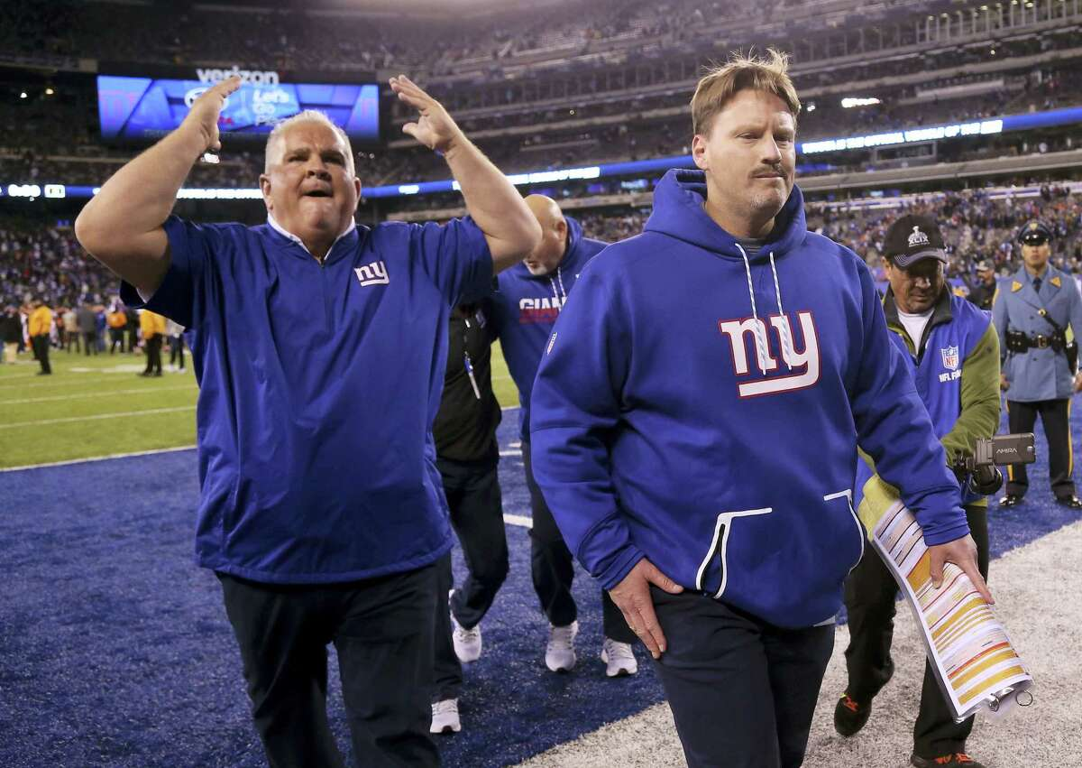 New York Giants head coach Ben McAdoo walks off the field after the Giants beat the Cincinnati Bengals 21-20 in an NFL football game, Monday, Nov. 14, 2016, in East Rutherford, N.J. (AP Photo/Seth Wenig)