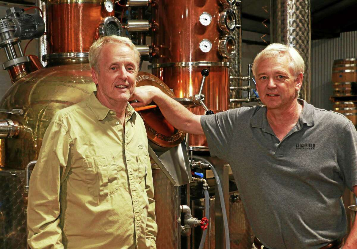 Jack and David Baker at Litchfield Distillery.