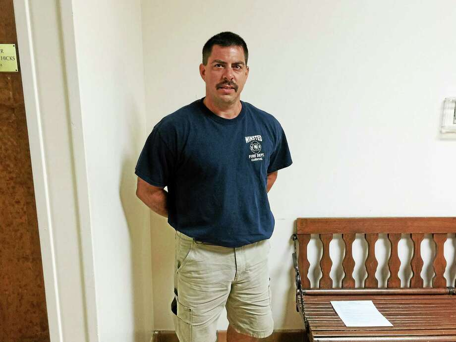 Robert Asselin, the new Chief of the Winsted Fire Department. Photo: Ben Lambert — The Register Citizen