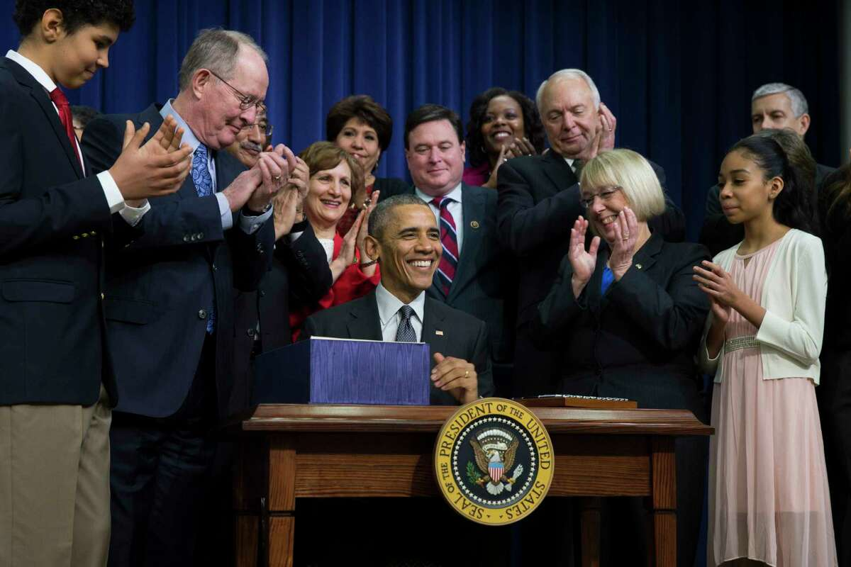 """President Barack Obama speaks before signing the """"Every Student Succeeds Act,"""" a major education law setting U.S. public schools on a new course of accountability on Dec. 10, 2015 in Washington. The law will change the way teachers are evaluated and how the poorest performing schools are pushed to improve."""