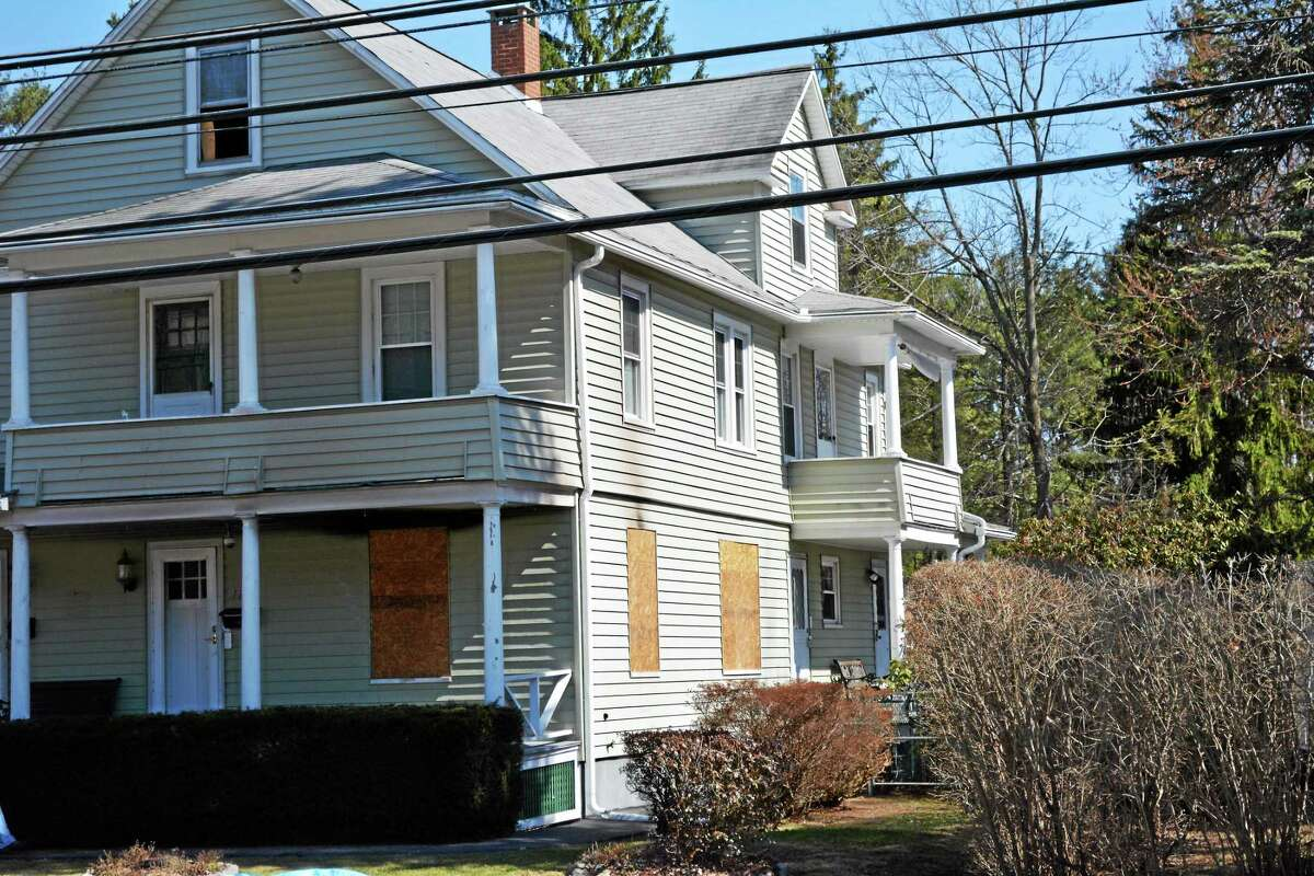 The house at 122 Winsted Road in Torrington was damaged in a two-alarm fire Sunday night.
