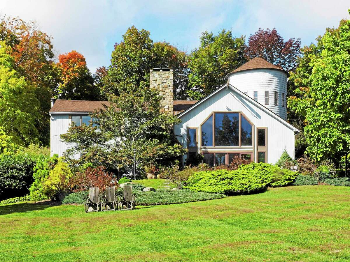 This Sharon home used to be an old barn with incorporated silo.