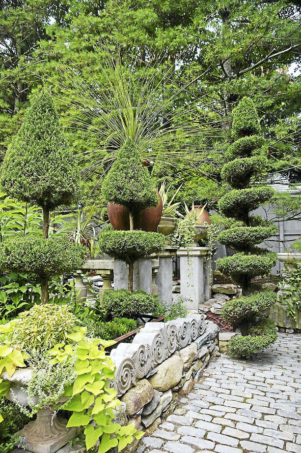 Contributed photo Michael Trapp's garden in West Cornwall is described as Old World and intimate. Photo: Journal Register Co.