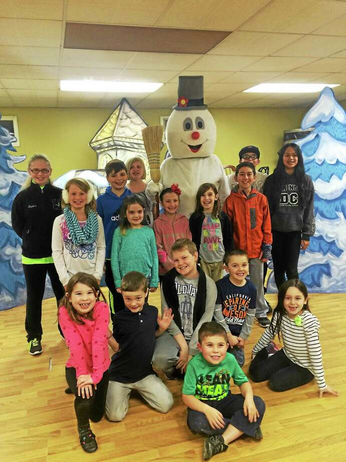 Contributed photo Jeff Dunn as Frosty and cast members of Frosty the Snowman at Landmark Community Theater in Thomaston. Photo: Journal Register Co.