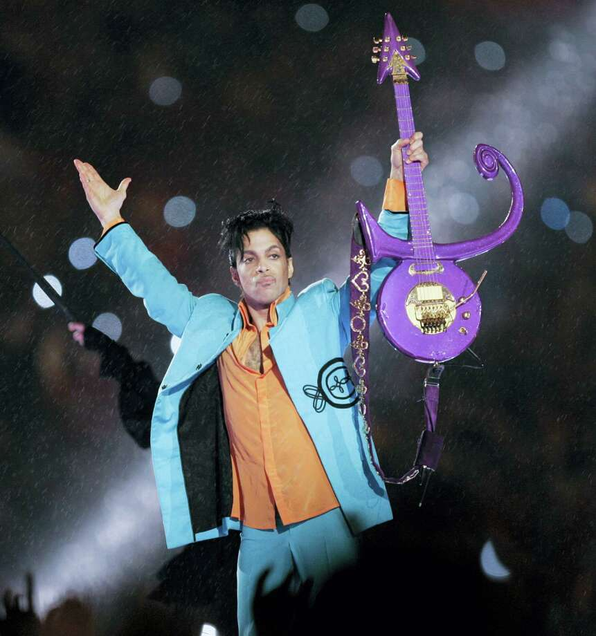 Prince performs during the halftime show at the Super Bowl XLI at Dolphin Stadium in Miami in 2007. Photo: Chris O'Meara — The Associated Press  / AP