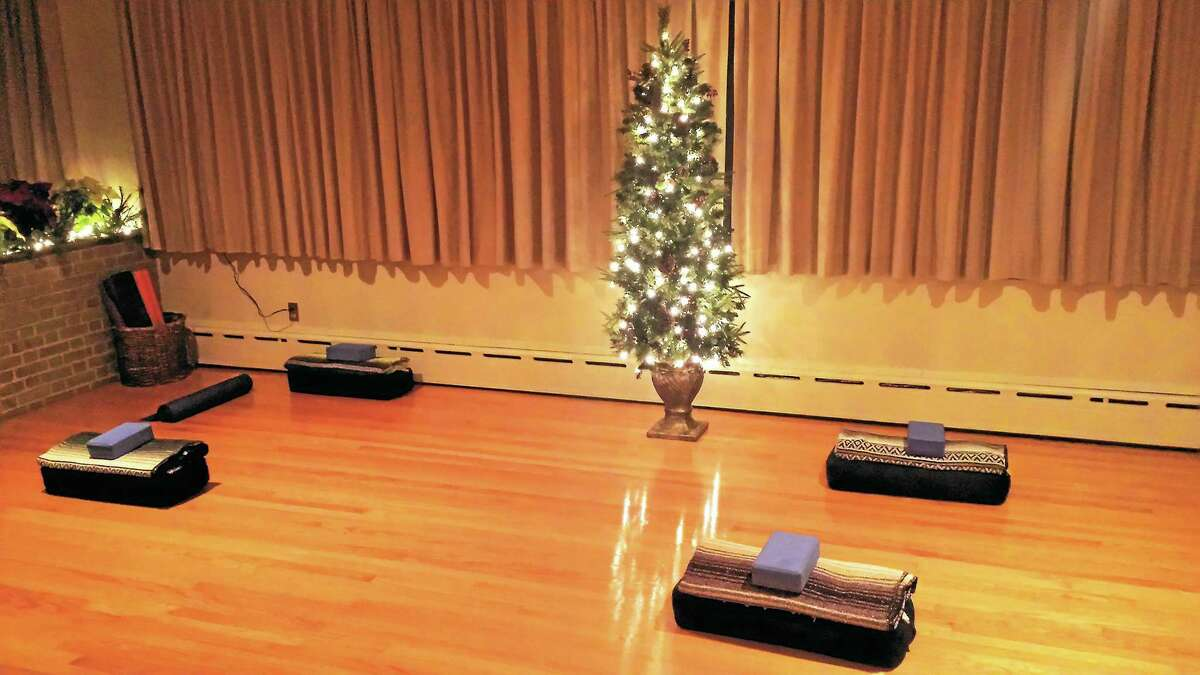 The yoga room at Bramasole in Morris.