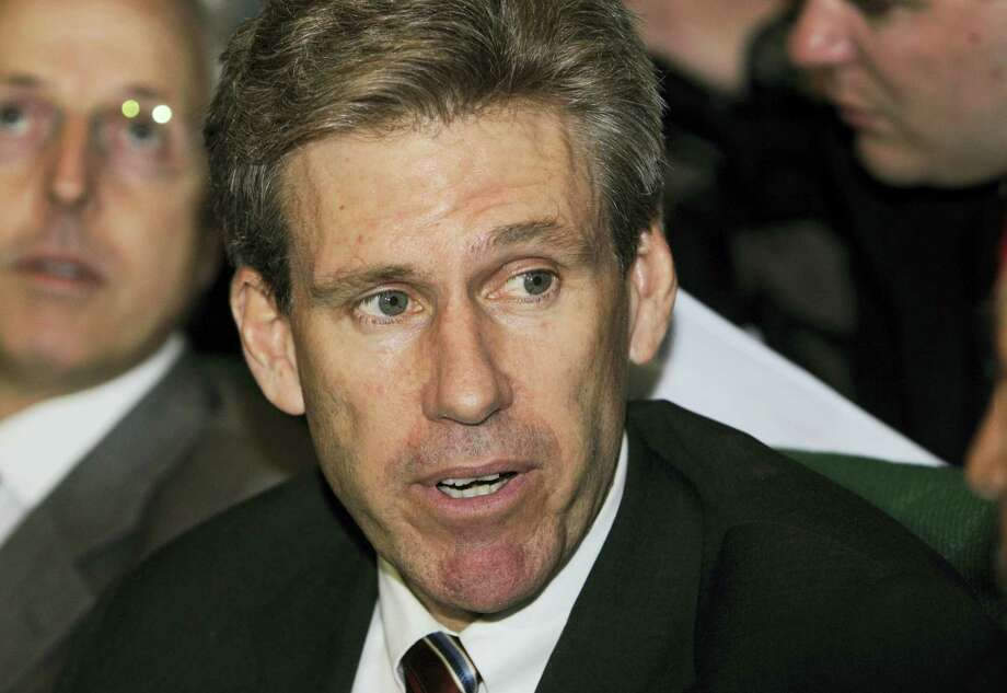 In this April 11, 2011, file photo, then-U.S. envoy Chris Stevens attends meetings at the Tibesty Hotel in Benghazi, Libya. Photo: ASSOCIATED PRESS FILE PHOTO  / 2011 AP