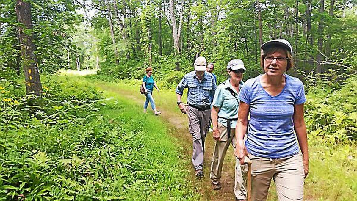 Barbara Rzasa of Seymour attended a hike as part of the Bantam Lake Day celebrations Saturday by both the White Memorial Conservation Center in Litchfield and the Morris Town Beach in Morris. The Center, at 80 Whitehall Road in Litchfield, gave two woodland hikes along the lake. Gerri Griswold, the Center's Director of Administration and Development, led the hikes and gave a presentation on the issues facing bats nationwide today as locally-famous 'The Bat Lady' at the Morris Town Beach.