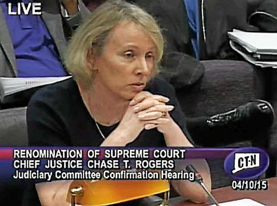Chief Justice Chase Rogers Photo: SCREENGRAB CT-N