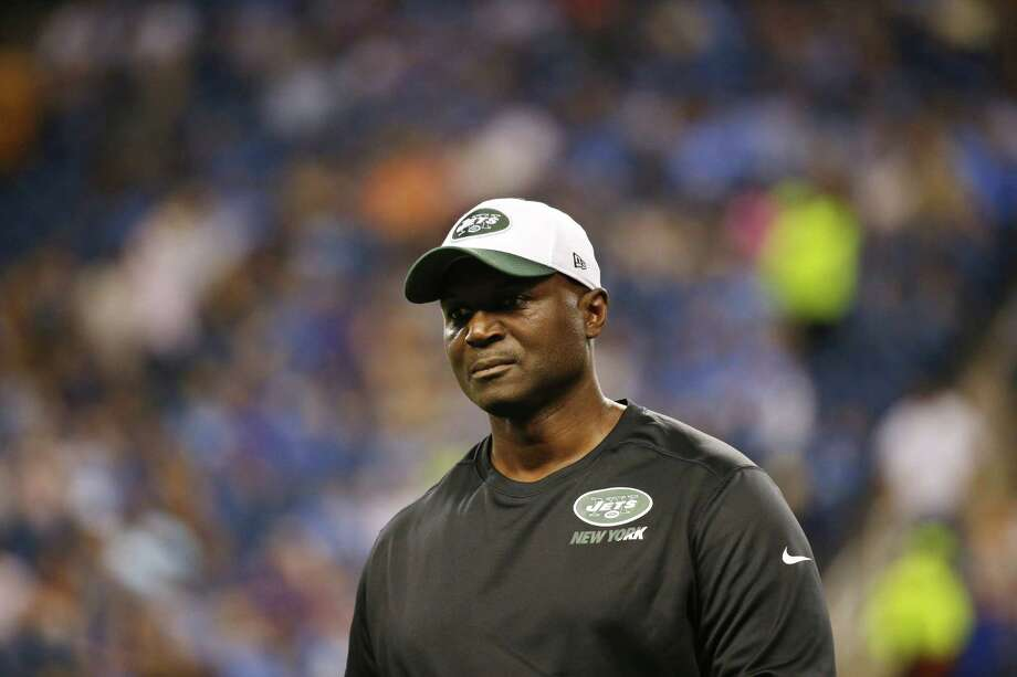 Head coach Todd Bowles, above, and the Jets brought in quarterback Matt Flynn for a physical Friday, but did not work him out as they consider signing a veteran to back up starter Ryan Fitzpatrick. Photo: The Associated Press  / AP
