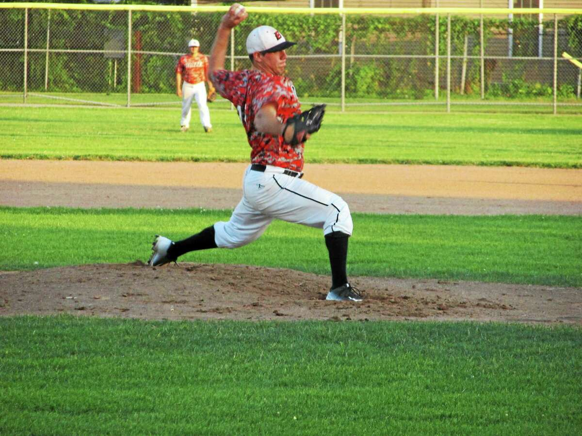 Peter Wallace - Register Citizen Watertown's Charlie Benson was the winning pitcher in Friday's Tri-State matchup against Litchfield.