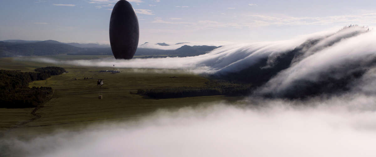 """This image released by Paramount Pictures shows a scene from """"Arrival."""" (Paramount Pictures via AP)"""