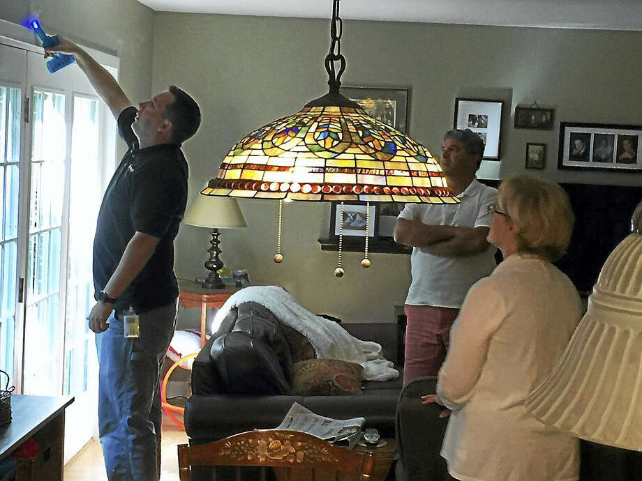 Ben Lambert - The Register CitizenAn energy audit was conducted at the home of Mayor Elinor Carbone Wednesday morning in Torrington. Photo: Journal Register Co.