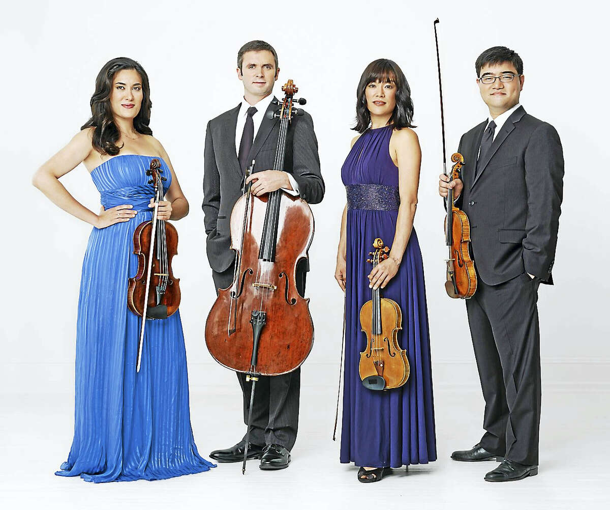 Contributed photo - Enso String QuartetThe Enso String Quartet with guest pianist Daniel Epstein performs Sunday, July 17 at Music Mountain in Falls Village.