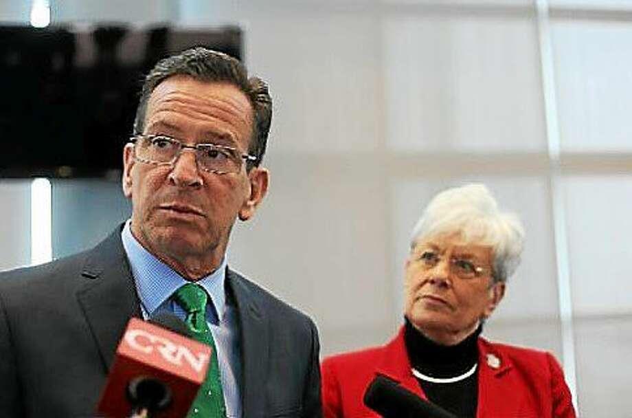 Gov. Dannel P. Malloy and Lt. Gov. Nancy Wyman Photo: Christine Stuart — CT News Junkie