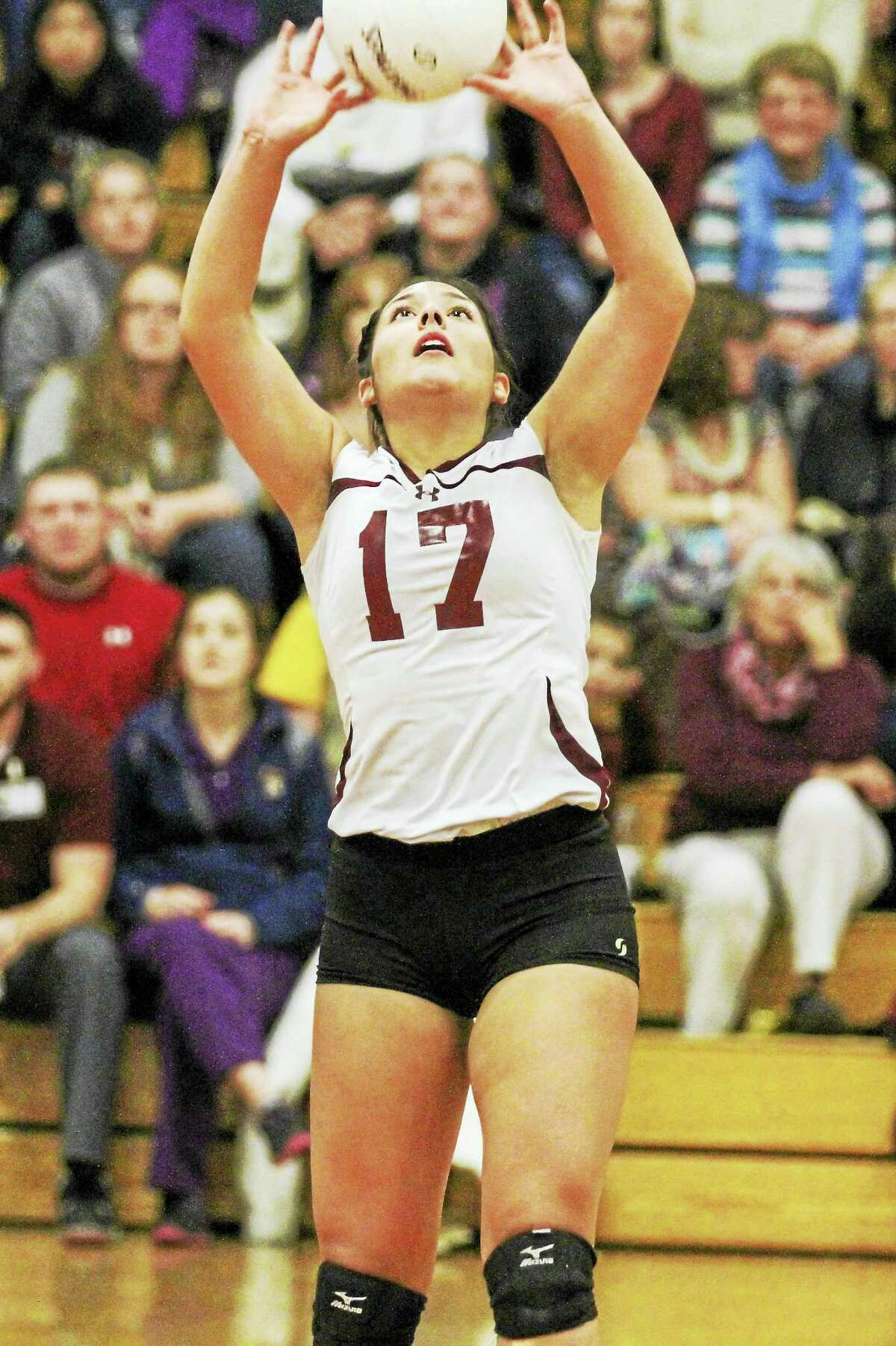 Torrington setter Jayleen Colon, with 33 assists in Friday's win over Tolland, is part of the calm willpower that drives the Red Raiders this year.