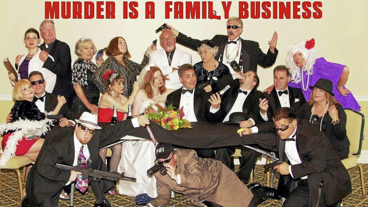 """The cast of """"Murder Is a Family Business."""""""