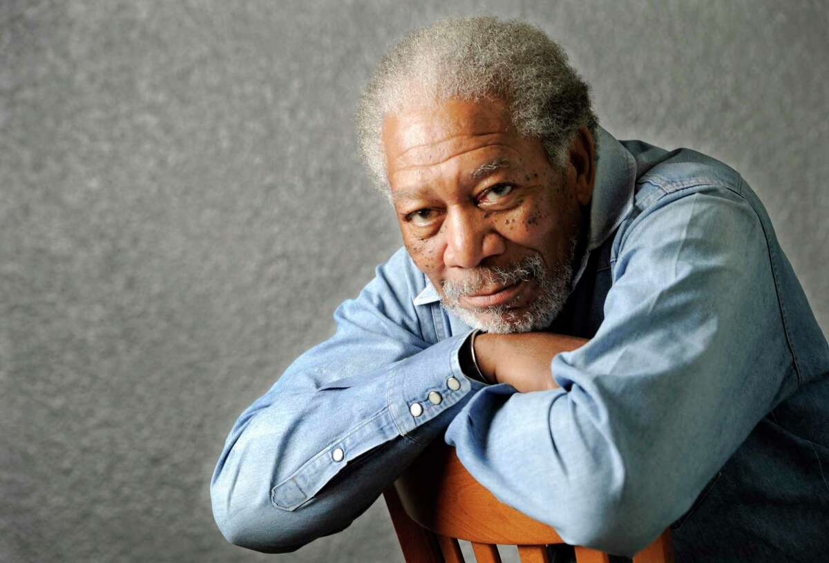 In this April 25, 2011 photo, actor Morgan Freeman poses for a portrait in Los Angeles. Freeman said he was aboard his plane when it had to make an unexpected landing in Tunica, Miss. on Dec. 5, 2015, but nobody was injured.