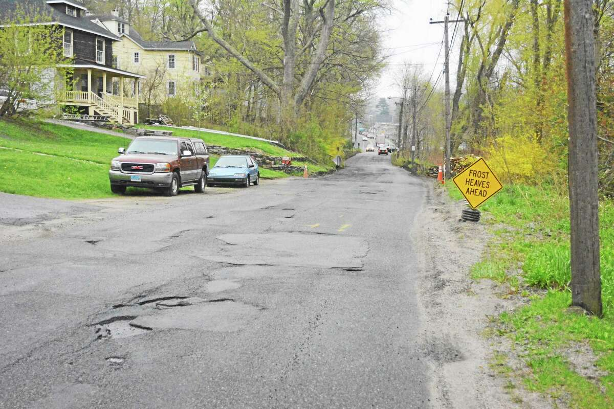 Register Citizen file photo Whiting Road in Winsted illustrates the condition of many of the town's roadways.