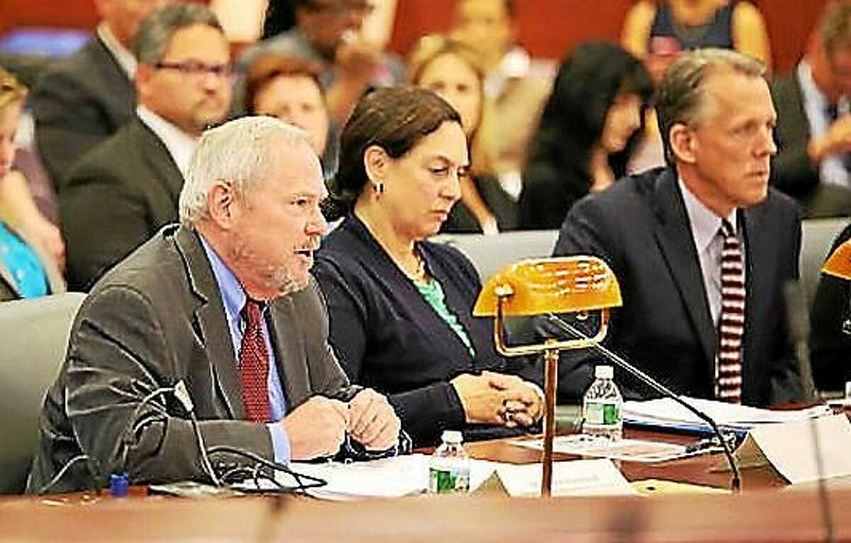 Robert Kinscherff and DCF Commissioner Joette Katz