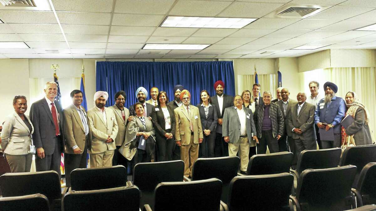 U.S. Attorney Deirdre Daly holds a meeting to discuss ways in which U.S. Attorney's Office can help address religious discrimination and prevent hate crimes in Connecticut.