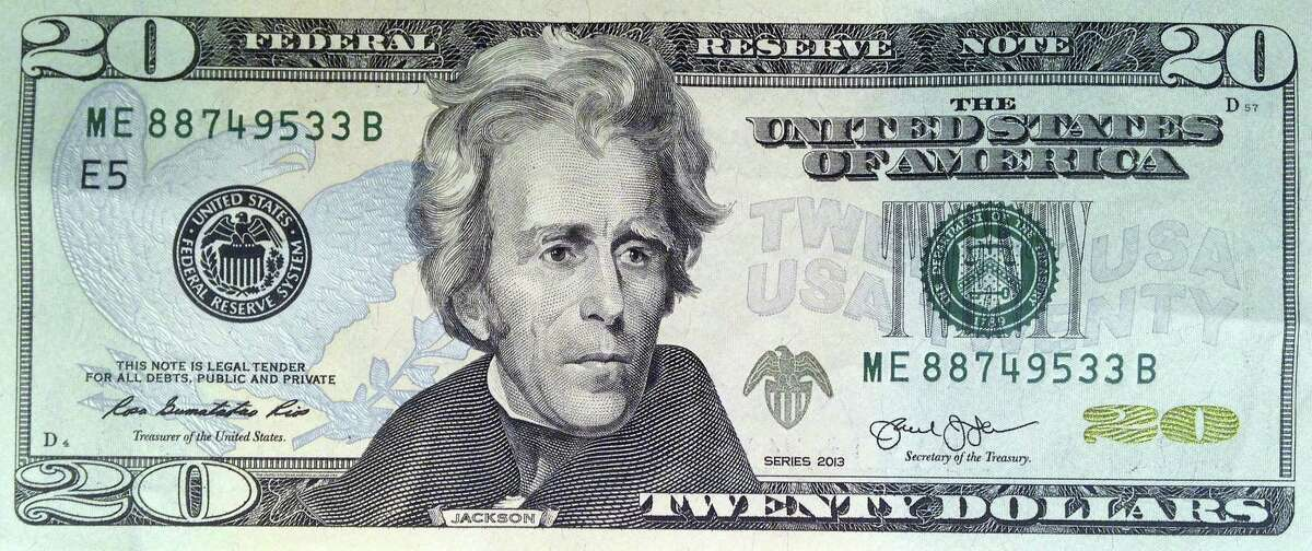 This April 17, 2015, file photo provided by the U.S. Treasury shows the front of the U.S. $20 bill, featuring a likeness of Andrew Jackson, seventh president of the United States. A Treasury official said Wednesday, April 20, 2016, that Secretary Jacob Lew has decided to put Harriet Tubman on the $20 bill, making her the first woman on U.S. paper currency in 100 years.