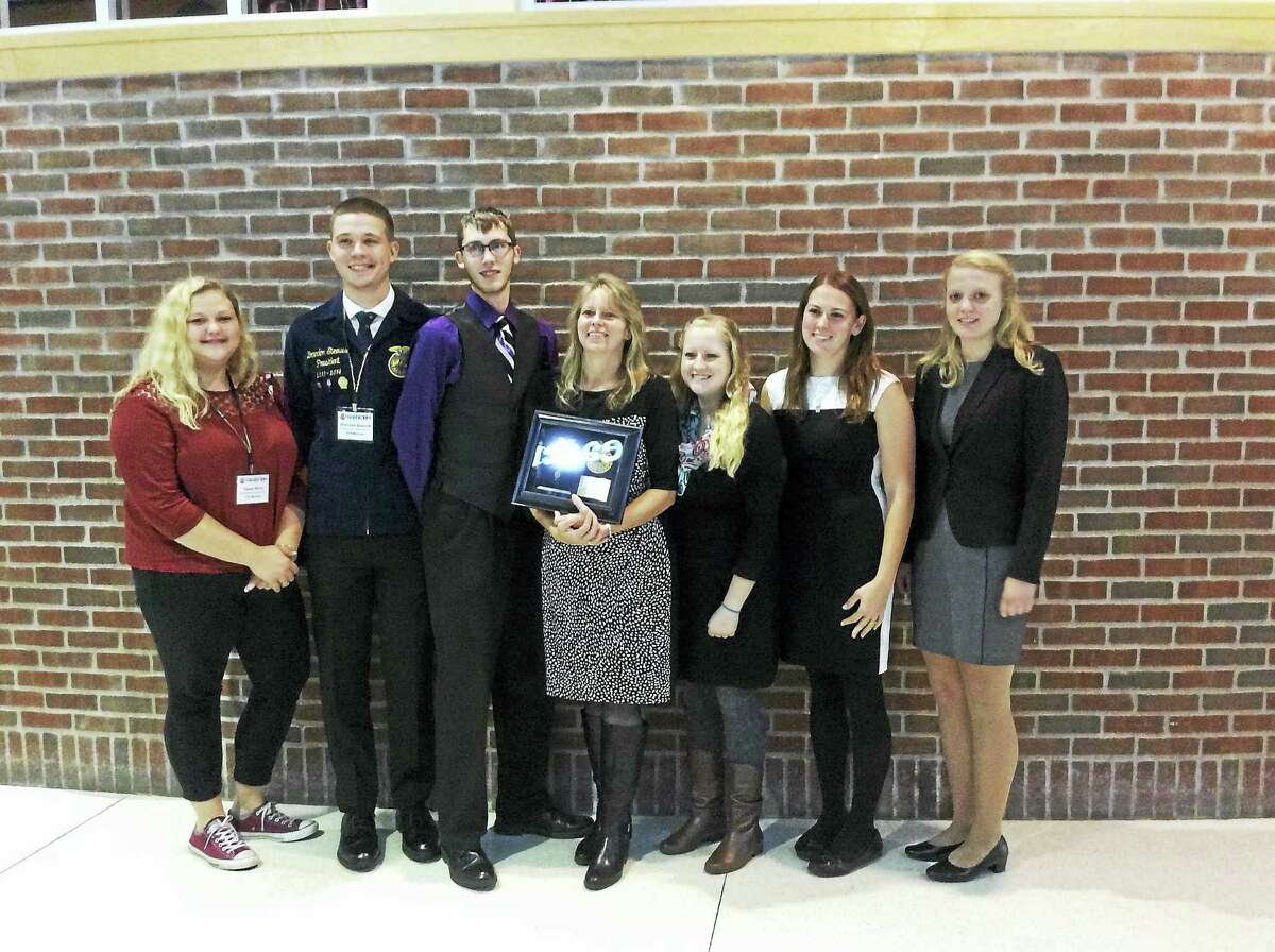Contributed photo Connecticut has a total of 24 American Degree recipients this year, including six from Northwestern Regional High School. These alumni graduated from the Agricultural Education Program and the high school in 2014 and are well deserving of this honor, and include Jessica Brown, Connor Capell, Lacey Grogan, Ashley Marshall, Brandon Steeves and Kacey Stone, who earned the highest honor possible in the National FFA Association. At the same time one of the advisors of the program, Mia Haaland, will receive her Honorary American FFA Degree.