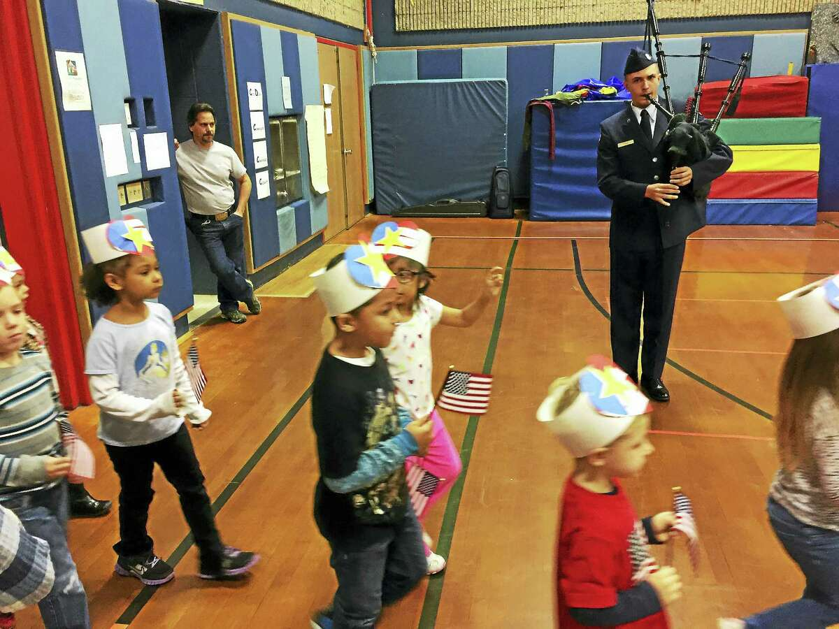 A ceremony celebrating local veterans was held Thursday at Forbes School in Torrington, ahead of the annual holiday.