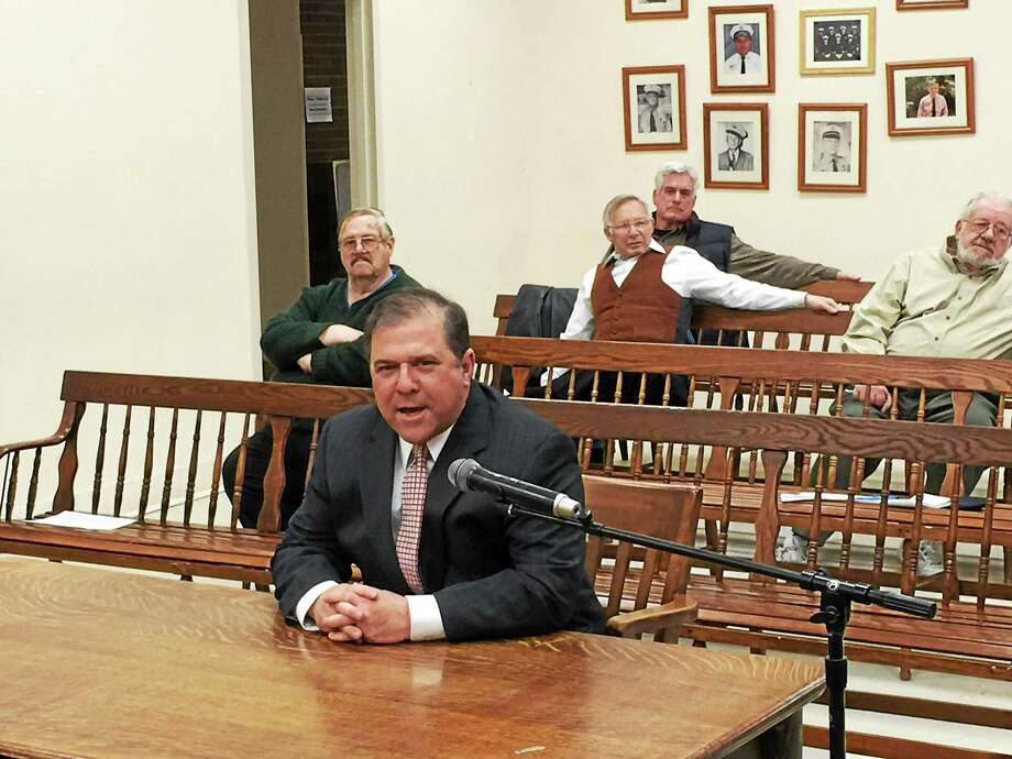 Ben Lambert – The Register Citizen William Fitzgerald, a lieutenant with the Newport, R.I., police department, has been chosen as the new Winchester Police Department chief. Photo: Journal Register Co.