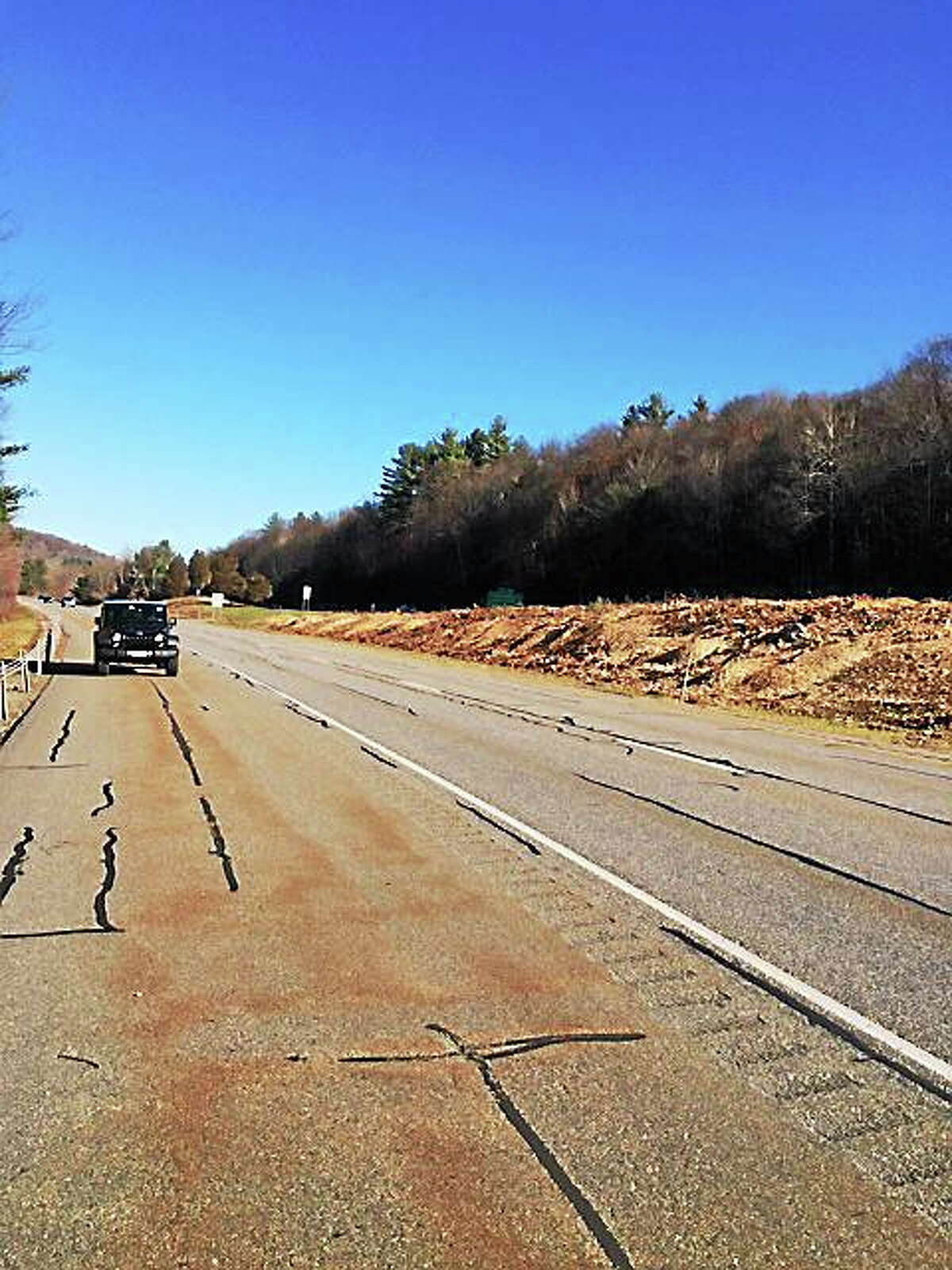 State Sen. Kevin Witkos wants answers from state Department of Transportation regarding the clear-cutting of trees in the Route 8 median between Winsted and Torrington.