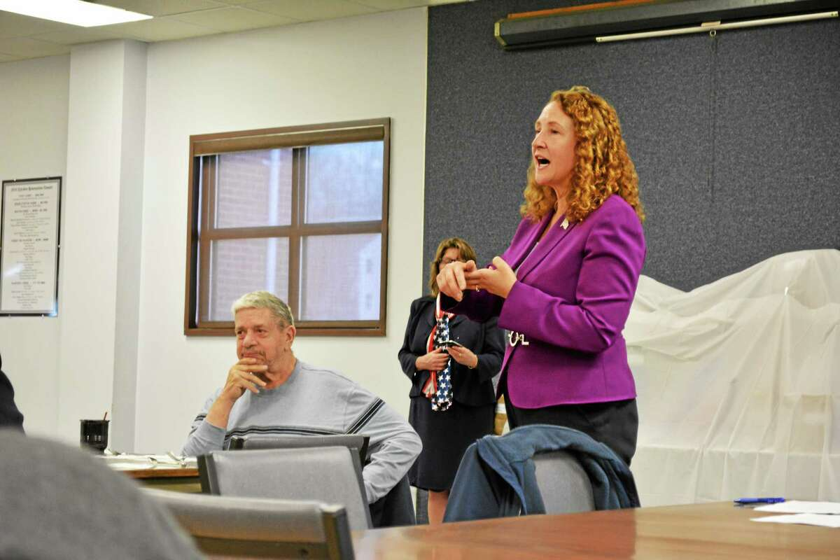 U.S. Rep. Elizabeth Esty visited the Torrington Senior Center Tuesday to discuss a social security bill she and U.S. Rep. John Larson are working on.