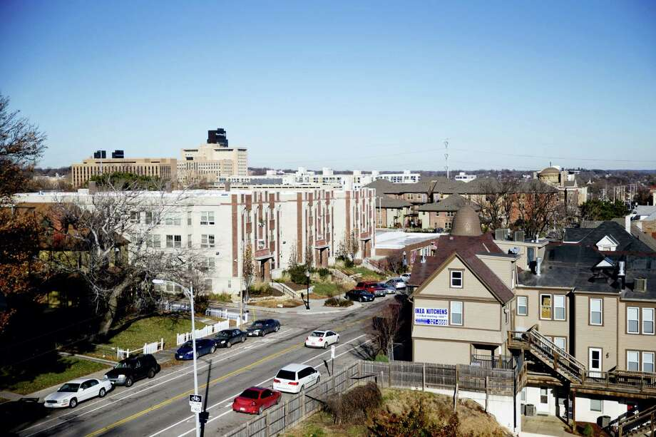 This 2015 photo shows the Park Avenue neighborhood from the roof of the Bristol Apartments in Omaha, Neb. inCOMMON, a community development organization, has purchased the property to maintain affordable rent for low-income residents. Photo: Sarah Hoffman — Omaha World-Herald Via AP  / Omaha World-Herald
